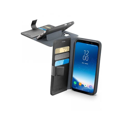 CELLULARLINE Etui folio porte carte pour Galaxy A8 2018 - Noir