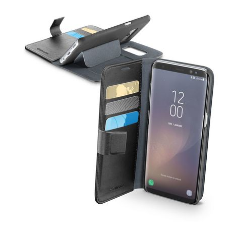 CELLULARLINE Etui  folio porte cartes pour Galaxy S8 - Noir