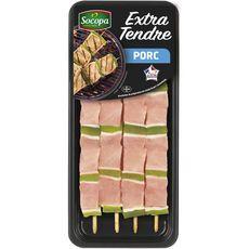 SOCOPA Brochettes de porc extra tendres 4 pièces 340g