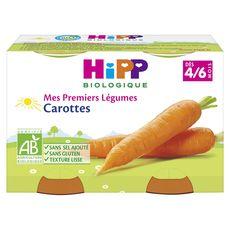 HIPP Hipp bio carottes pots 2x125g dès 4/6 mois