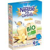 Nestlé bio p'tite céréale vanille 240g dès 6mois