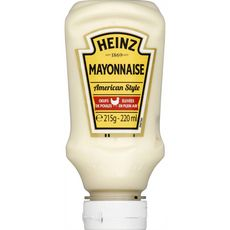 HEINZ Mayonnaise american style en squeeze top down 215g
