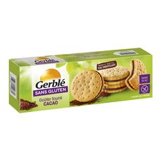 GERBLE Biscuits goûter fourré cacao sans gluten 8 biscuits 225g