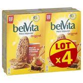LU Belvita miel et pépites de chocolat 4x435g