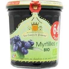 Les Comtes de Provence confiture de myrtilles bio 350g