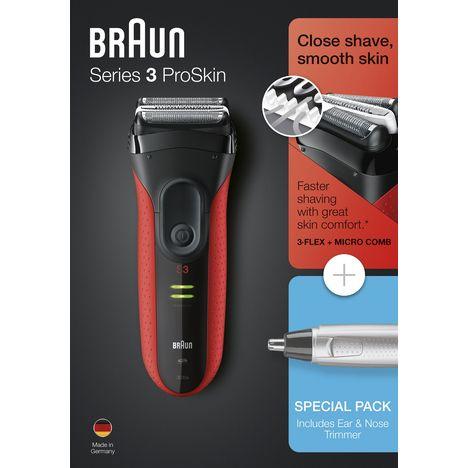 BRAUN Rasoir Series 3 3030S + Tondeuse nez oreilles EN10