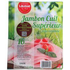 LES SALAISONS LAUSSE Jambon cuit dégraissé sans couenne 16 tranches 720g