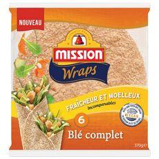 MISSION Wraps au blé complet 6 wraps 370g