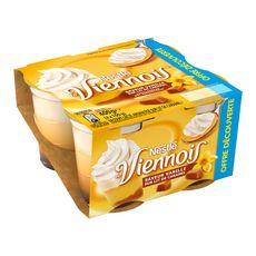 NESTLE Viennois liégeois vanille sur lit de caramel 4x100g