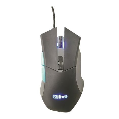 QILIVE Souris gamer - Filaire - Q.8338 - Noir/Bleu