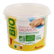 AUCHAN BIO Rillettes de saumon 120g