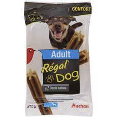 AUCHAN Adult friandises régal'dog sticks dents saines pour grand chien 270g