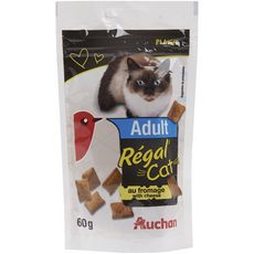 Auchan snack pour chat deliss'cat fromage 60g