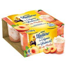 La Laitière liégeois au yaourt sur lit de pêche 4x100g