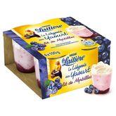 Nestlé La Laitière liégeois au yaourt sur lit de myrtille 4x100g