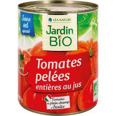 Jardin Bio tomates pelées entières au jus boîte métal 800g