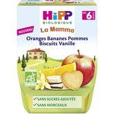 HiPP orange banane pomme biscuit vanille 2x190g dès6mois