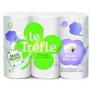Le Trèfle papier toilette maxi feuilles absolu bien-être x6