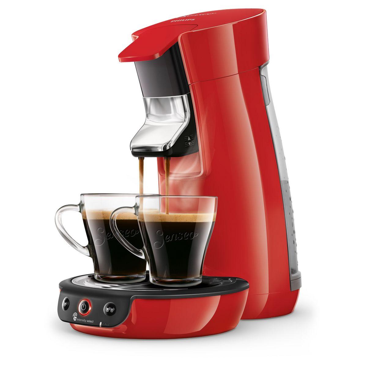 Cafetière à dosettes Senseo Viva Café - HD6563/81 - Rouge