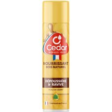 O'CEDAR Nourrissant à l'huile de cèdre pour bois naturel spray 300ml