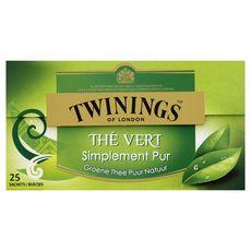 TWININGS Thé vert simplement pur 25 sachets 37g