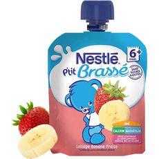 Nestlé p'tit brassé gourde banane fraise 90g dès 6mois