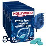 Hollywood powerfresh dragées sans sucre 5x10 -70g