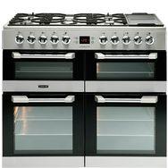 LEISURE Piano de cuisson à gaz CS100F520X, 100 cm, 5 foyers gaz dont 1 wok + zone de maintien au chaud, 1 four chaleur pulsée, 1 four convection naturelle, 1 four cuisson lente et 1 grill