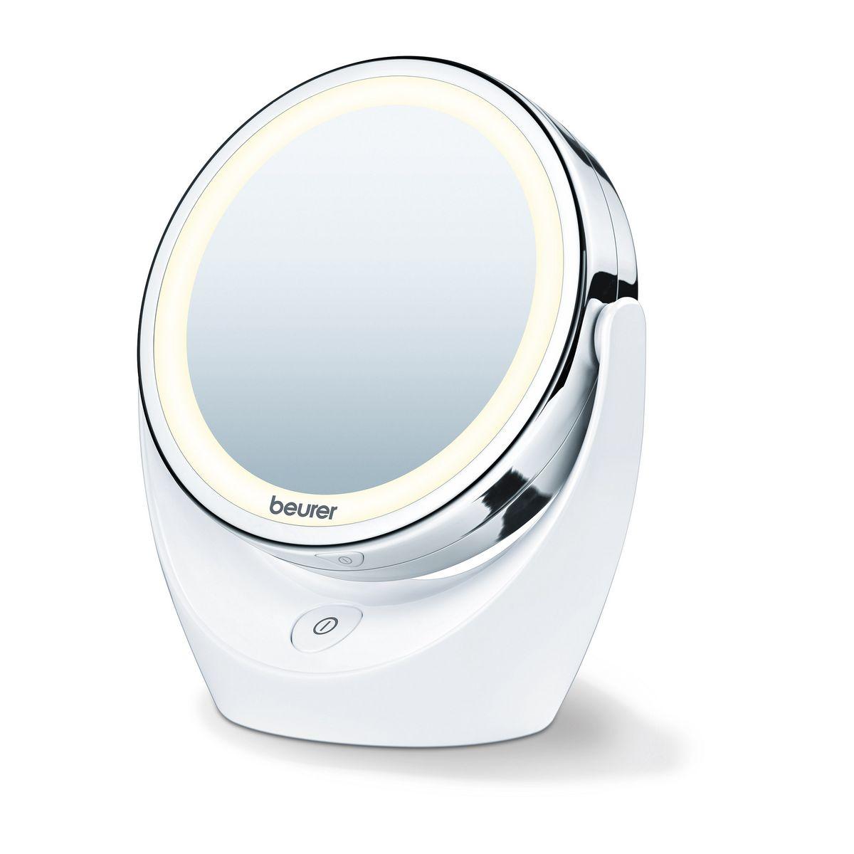 Miroir lumineux grossissant BS 49 - Blanc