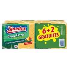 SPONTEX Spontex gratte éponge stop graisse x6 +2offerts
