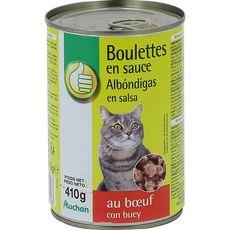 POUCE Pouce boulettes en sauce au boeuf pour chat boîte 410g