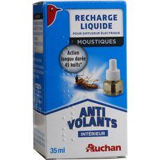 Auchan Recharge liquide diffuseur électrique anti-moustiques intérieur 35ml
