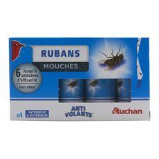 Auchan Rubans anti-mouches intérieur & extérieur x4