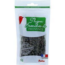 AUCHAN Thym de Provence en branches en sachet 15g