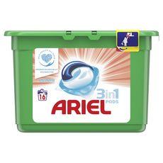 Ariel pods lessive ecodoses sensitive x16 -0,425l