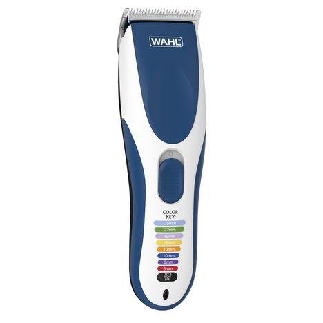 WAHL Kit tondeuse à cheveux COLOR PRO 9649-016 - Blanche et Bleu