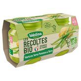 Blédina bio haricots verts pommes de terre 2x130g 4/6mois