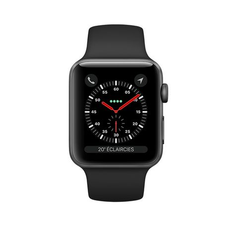 0ab9e7c15041b1 APPLE Montre connectée - Apple watch SERIE 3 GPS - Gris - Wifi - Bluetooth  ...