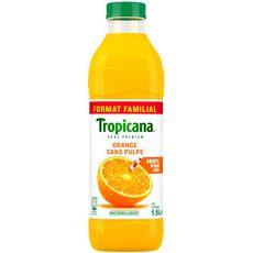 Tropicana pur premium jus  d'orange sans pulpe 1,5l