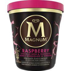 Magnum glace pot framboise chocolat noir 297g