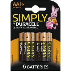 DURACELL Duracell Piles AA/LR06 simply x6 6 pièces