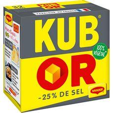 MAGGI Kub or avec -25% de sel 100% végétal 32 cubes 122g