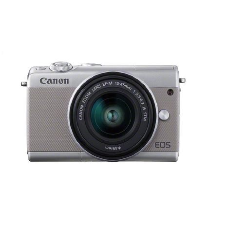 CANON Appareil Photo Hybride -  EOS M100 - Gris + Objectif 15-45 mm