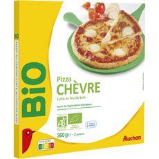 AUCHAN BIO Pizza cuite au feu de bois chèvre 360g
