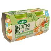 Blédina bio carottes choux fleurs 2x130g dès 6mois