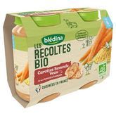 Blédina bio carotte semoule veau 2x200g dès 6mois