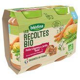 Blédina bio légumes du jardin boeuf 2x200g dès 6mois