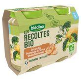 Blédina bio brocolis pomme de terre veau 2x200g dès 6mois