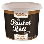Rillettes de poulet rôti en marmite pot 220g