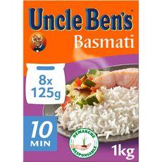 UNCLE BEN'S Riz basmati en sachets 8 sachets 1kg